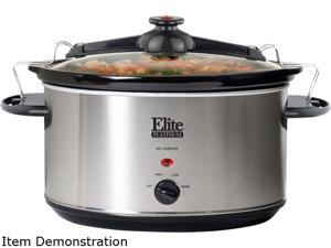 Maxi-Matic MST-900VX Stainless Steel 8.5 Qt. Elite Platinum 8.5Qt. Stainless Steel Slow Cooker with locking lid
