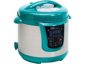 Elite EPC-808T Bistro Electric Stainless Steel Pressure Cooker with 13 Functions, 8 quarts, Turquoise