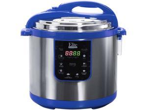 Elite EPC-1013BL 10 Quarts Electric Pressure Cooker (Stainless Steel) Blue