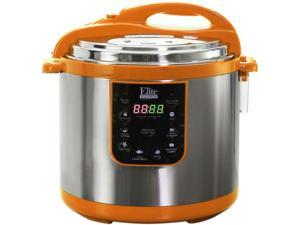 Elite EPC-1013OR 10 Quarts Electric Pressure Cooker (Stainless Steel) Orange