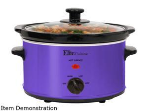 Elite MST-275XP Purple 2 Qt. Gourmet Slow Cooker, 2 quart, Purple