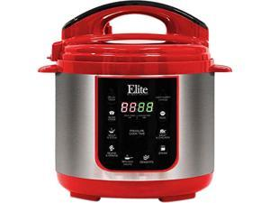 Maxi-Matic EPC-414R 4Qt. 9-Functions Electric Pressure Cooker w/Slow Cooker Function, Red