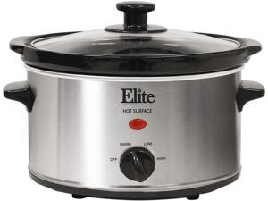MAXI-MATIC MST-275XS Elite Gourmet 2 Qt. Slow Cooker, Stainless Steel