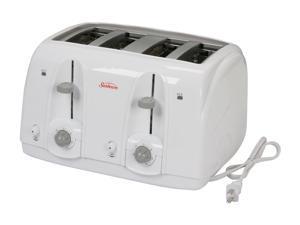 Sunbeam Product Inc. 3823-100 White 4 Slice Wide Slot Toaster
