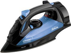Sunbeam GCSBSM-423-000 Steam Master Iron with Retractable Cord, Black & Blue Black & Blue
