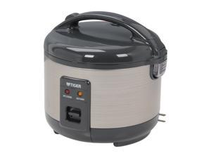 Tiger JNP-S55U Rice Cooker and Warmer, Stainless Steel Gray, 6 Cups Cooked/ 3 Cups Uncooked