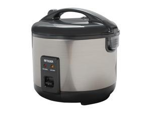 Tiger JNP-S10U 5.5-Cup (Uncooked),11 Cups(Cooked) Rice Cooker and Warmer, Stainless Steel Gray