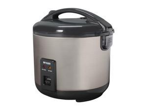 Tiger JNP-S18U 10-Cup (Uncooked), 20 Cups(Cooked) Rice Cooker and Warmer, Stainless Steel Gray