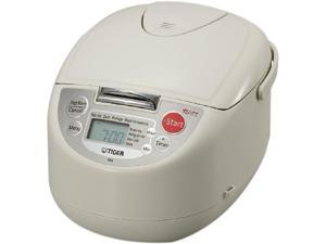 TIGER JBAA18U Milky White Microcomputer 10 Cups (Uncooked)/20 Cups (Cooked) Controlled Rice Cooker