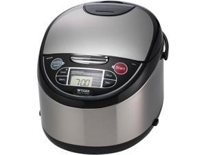 Tiger JAX-T18U Microcomputer Controlled Multifunctional Rice Cooker, Black, 20 Cups Cooked/10 Cups Uncooked