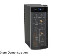 Avanti EWC1201 12-Bottle Thermoelectric Counter Top Wine Cooler, Platinum/Black