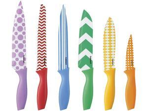 Cuisinart C55-12PR2 12-Piece Printed Color Knife Set with Blade Guards
