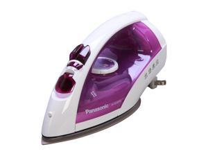 Panasonic NI-E650TR Steam/Dry Iron with Titanium, Non-Stick Coated Curved Soleplate White / Violet
