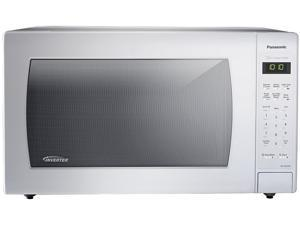 Panasonic 1250 Watts 2.2 Cu. Ft. 1250W Genius Sensor Countertop Microwave Oven with Inverter Technology, White NN-SN936W White