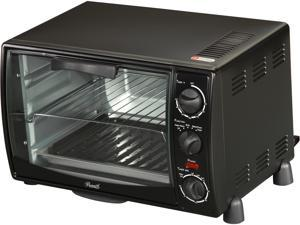 Rosewill RHTO-13001 6 Slice Black Toaster Oven Broiler with Drip Pan, capacity 0.8 cu ft