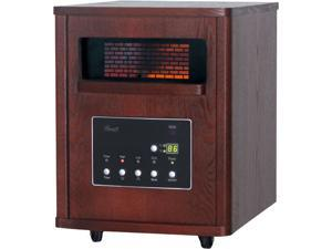 Rosewill RHWH-14001 - 1500-Watt Room Heater in a Stylish Wooden Cabinet with 6 Infrared Tubes - Cherry