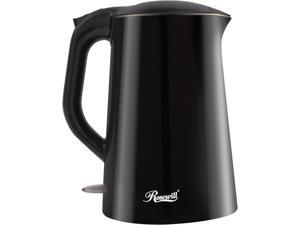 Rosewill RHKT-15002 1500-Watt 1.5L Double Wall Insulated Stainless Steel Pot Tea Water Electric Kettle, Black