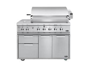 "DCS 48"" Built-in Gas Grill BGB48-BQR-N Silver"