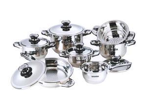 Bavaria EDELSTAHL 12-Piece Bidermayer Cookware Set Stainless steel