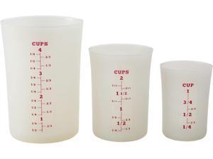 Cake Boss  59371  Countertop Accessories Silicone Liquid Measuring Cups, White