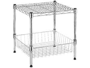 Whitmor 6054-2364 Supreme Stack Shelf w Basket