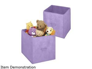 "Whitmor 6405-909-2-PRPL 14"" Collapsible Cubes Purple"