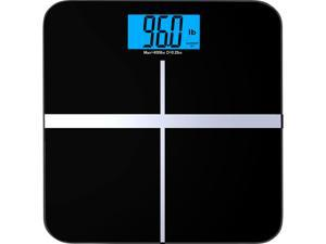 """BalanceFrom BFHA-C400BLK High Accuracy Premium Digital Bathroom Scale with 3.6"""" Extra Large Dual Color Backlight Display and """"Smart Step-On"""" Technology"""