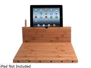 CTA Digital PAD-BCBS Bamboo Cutting Board with Stand for iPad and Knife Storage