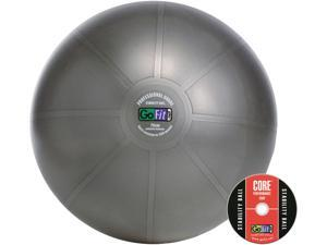 GoFit GF-75PRO Professional Stability Ball & Core Performance Training DVD (75 Cm&#59; Dark Gray)