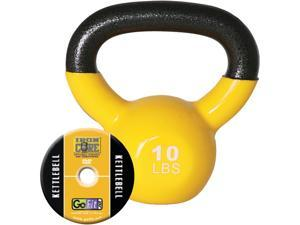 GoFit GF-KBELL10 Kettelbell & Iron Core Training DVD (10 Lbs&#59; Yellow)