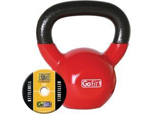 GoFit GF-KBELL15 Kettelbell & Iron Core Training DVD (15 Lbs, Red)