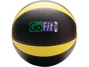 GoFit GF-MB10 Medicine Ball & Core Performance Training DVD (10 Lbs&#59; Black & Yellow)