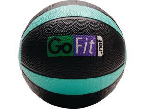 GoFit GF-MB4 Medicine Ball & Core Performance Training DVD (4 Lbs&#59; Black & Green)