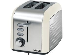 NESCO T1000-14 Chrome Cream 2 Slice Toaster