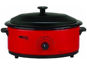 NESCO 4816-12 Red 6 Qt. 6qt Roaster Oven