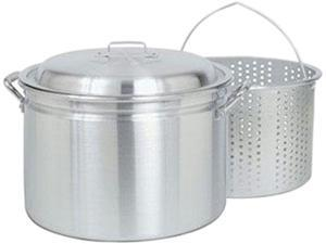 Barbour International 4024 24-Quart Fryer Steamer With Small Holed Basket