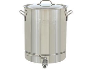 Barbour International 1064 Stainless 16-Gallon Stockpot with Spigot and Vented Lid