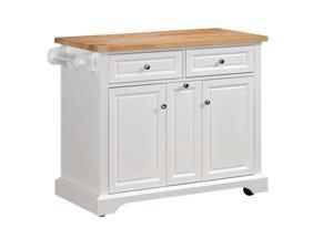 TRESANTI KC7005-T401-42 Summerville Kitchen Island White