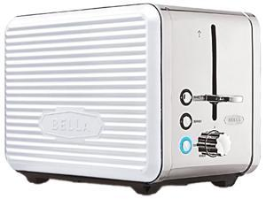 Bella 14176 Linea Collection 2-Slice Toaster, White