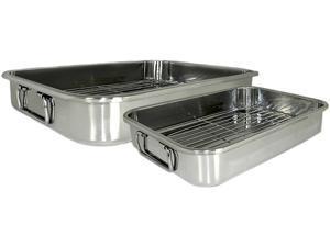 Cookpro 561 4 Pc Stainless Roasting/Lasagna Pan Set