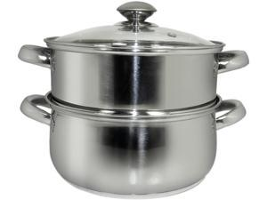 Cookpro 589 3 Pc 3 Qt All-In-One Steamer and Sauce Pot w/ Glass Lid