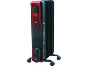 World Marketing EOF261 7-Fin Stylish Oil Filled Radiant Heater, Black