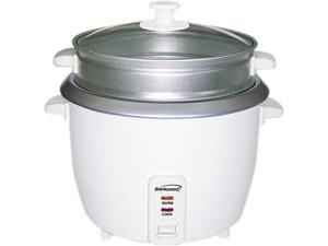Brentwood ts600s White 5 Cup Rice Cooker with Steamer