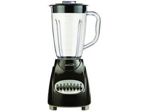 Brentwood JB220B Black 12 Speed Blender Plastic Jar - Black 12 speeds