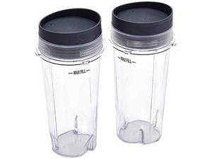 Ninja  XWP002CS  16-Ounce  Jar Size 16-Ounce Single Serve Cups with Lids for Ninja BL660 (set of 2)