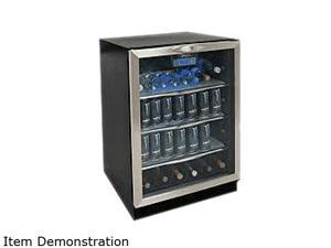 Danby DBC514BLS 5.3 cu. ft. (112 beverage cans) Beverage Center Black with Stainless Steel