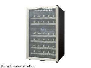 Danby DWC350BLPA 35 bottle (3.2 cu. ft.) Free-Standing Wine Cooler Black/Platinum