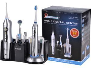 Pursonic S625 DELUXE Deluxe Home Dental Center Sonic Toothbrush And Irrigator Silver