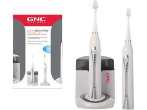 GNC GO-9450 Rechargeable UV Sonic Toothbrush Twin Pack White