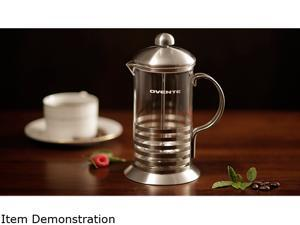 Ovente FSH12S Stainless steel 12oz Horizontal French Press Coffee Maker